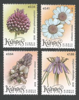 Cyprus Stamps SG 1432-35 2018 Wild Flowers of Cyprus - MINT