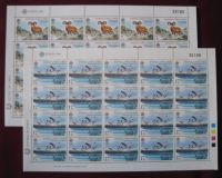 Cyprus Stamps SG 678-79 1986 Europa Nature Conservation - Full sheet MINT (k603)