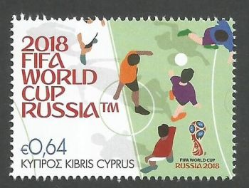 Cyprus Stamps SG 1437 2018 FIFA World Cup Football Russia - MINT