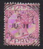 Cyprus Stamps SG 033 1892 One Piastre - USED (d362)
