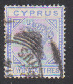 Cyprus Stamps SG 034 1892 Two 2 Piastres - USED (d363)