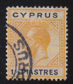 Cyprus Stamps SG 091 1922 One and Half Piastres - USED (d390)
