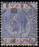 Cyprus Stamps SG 094 1922 Two 3/4 Piastres - USED (d395)