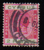 Cyprus Stamps SG 108 1924 2 Piastes - USED (d392)