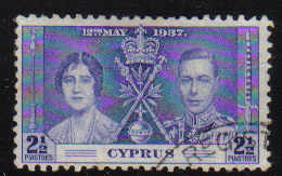 Cyprus Stamps SG 150 1937 Coronation  2 1/2 Piastres - USED (d348)