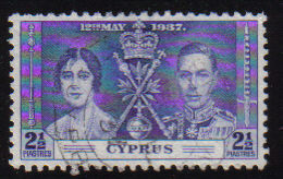 Cyprus Stamps SG 150 1937 Coronation 2 1/2 Piastres - USED (d349)