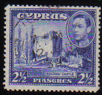 Cyprus Stamps SG 156 1938 KGVI  2 1/2 Piastres - USED (d394)