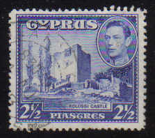 Cyprus Stamps SG 156 1938 KGVI  2 1/2 Piastres - USED (d350)