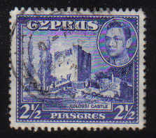 Cyprus Stamps SG 156 1938 KGVI  2 1/2 Piastres - USED (d351)