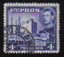 Cyprus Stamps SG 156b 1951 KGVI 4 Piastres - USED (d354)