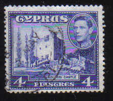 Cyprus Stamps SG 156b 1951 KGVI 4 Piastres - USED (d355)