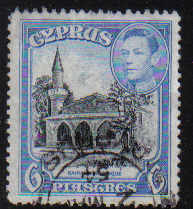 Cyprus Stamps SG 158 1938 KGVI 6 Piastres - USED (d357)