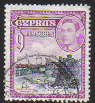 Cyprus Stamps SG 159 1938 KGVI 9 Piastres - USED (d358)