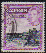 Cyprus Stamps SG 159 1938 KGVI 9 Piastres - USED (d359)