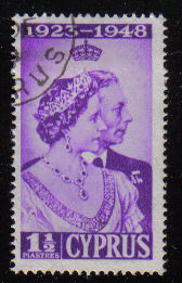 Cyprus Stamps SG 166 1948 Royal Silver Wedding 1 1/2 Piastres - USED (d327)