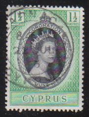 Cyprus Stamps SG 172 1953 Coronation - USED (d329)