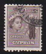 Cyprus Stamps SG 173 1953 QEII  2 Mills - USED (d331)