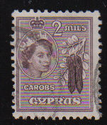 Cyprus Stamps SG 173 1953 QEII 2 Mils - USED (d332)