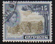 Cyprus Stamps SG 177 1955 QEII  15 Mils - USED (d333)