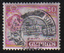 Cyprus Stamps SG 180 1955 QEII  30 Mils - USED (d335)