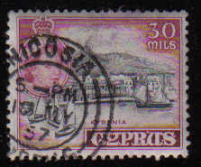 Cyprus Stamps SG 180 1955 QEII  30 Mils - USED (d336)