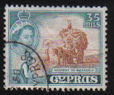 Cyprus Stamps SG 181 1955 QEII  35 Mils - USED (d337)