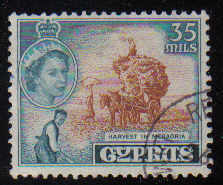 Cyprus Stamps SG 181 1955 QEII  35 Mils - USED (d338)
