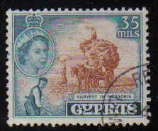 Cyprus Stamps SG 181 1955 QEII  35 Mils - USED (d338)