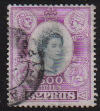 Cyprus Stamps SG 186 1955 500 Mils - USED (d340)