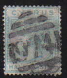 Cyprus Stamps SG 011 1881 Half Piastre - USED (d396)