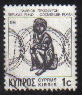 Cyprus Stamps 1984 Refugee fund tax SG 634 Waddingtons - USED (g599)