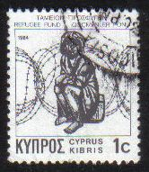 Cyprus Stamps 1984 Refugee fund tax SG 634 Waddingtons - USED (g597)
