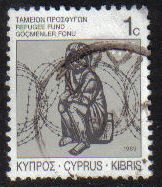 Cyprus Stamps 1989 Refugee Fund Tax SG 747 - USED (g589)
