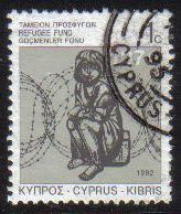 Cyprus Stamps 1992 Refugee Fund Tax SG 807 - USED (g577)