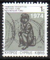 Cyprus Stamps 2006 Refugee Fund Tax SG 807 - USED (g542)