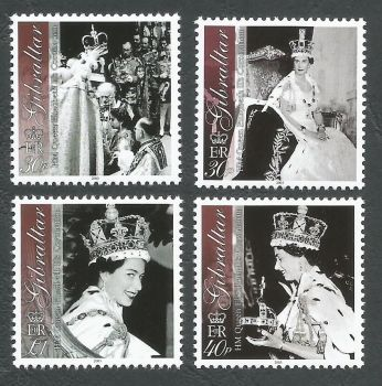 Gibraltar Stamps SG 1031-34 2003 50th Anniversary of the Coronation of Queen Elizabeth the second - MINT