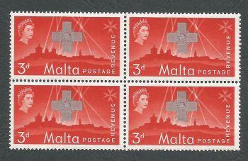 Malta Stamps SG 0284 1957 3d Block of 4 - MINT