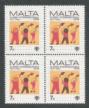 Malta Stamps SG 628 1979 7c Block of 4 - MINT