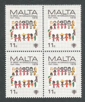 Malta Stamps SG 629 1979 11c Block of 4 - MINT