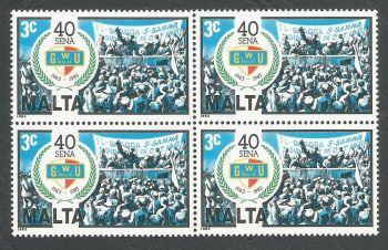 Malta Stamps SG 722 1983 3c Block of 4 - MINT