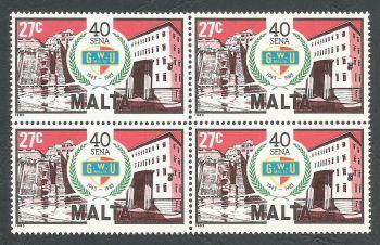 Malta Stamps SG 724 1983 27c Block of 4 - MINT