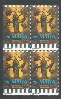 Malta Stamps SG 825 1988 12c Block of 4 - MINT