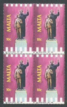Malta Stamps SG 824 1988 10c Block of 4 - MINT