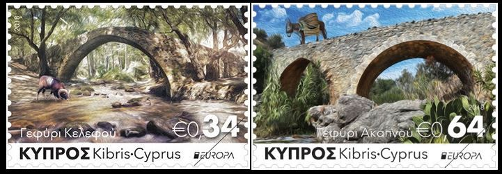 Cyprus Stamps SG 2018 EUROPA Bridges MINT set