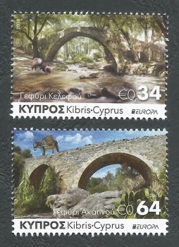 Cyprus Stamps SG 1439-40 2018 Europa Bridges - MINT