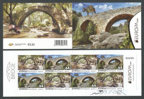 Cyprus Stamps SG 2018 (e) Europa Bridges Booklet - MINT