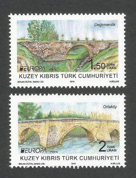 North Cyprus Stamps SG 2018 (b) Europa Bridges - MINT