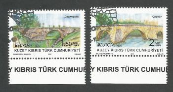 North Cyprus Stamps SG 0838-39 2018 Europa Bridges - CTO USED (k713)