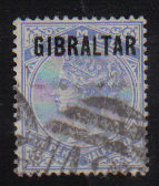Gibraltar Stamps SG 0004 Two and halfpenny - USED (d464)