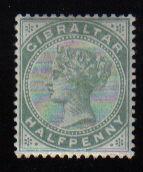 Gibraltar Stamps SG 0008 1887 Halfpenny - MH (d452)
